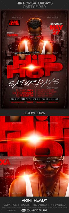 Free Deluxe Night Club PSD Flyer Template - Download Free PSD   - hip hop flyer template
