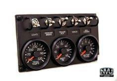 Tow truck rig switch gauge panel