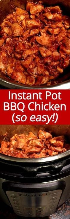 This Instant Pot BBQ Chicken recipe is my go-to weeknight dinner! So easy to make and so yummy! Everyone loves this Instant Pot barbecue chicken!