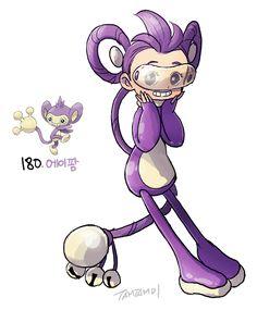 Pokemon gijinka 190. Aipom