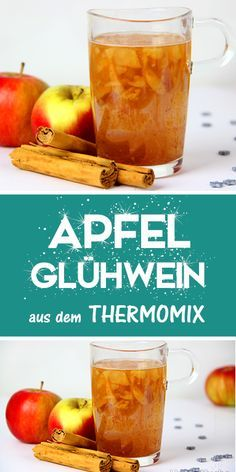 Make apple mulled wine yourself with the Thermomix. - Thermomix - Welcome food web Desert Recipes, Fall Recipes, Great Recipes, Recipe Ideas, Fast Easy Meals, Cheap Meals, Winter Drinks, Mulled Wine, Wine Tasting