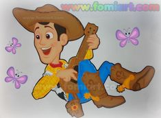 Woody tocando la guitarra, versión y acabado #Fomiart. Los moldes en Fomiart#50 Elsa Gonzalez, Woody, Toy Story, Mickey Mouse, Winnie The Pooh, Disney Characters, Fictional Characters, Disney Princess, Gifts