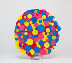 Nick van Woert- Poor Me  Marble impregnated resin bust and polyurethane plastic  35 x 39 x 14 in.  2010