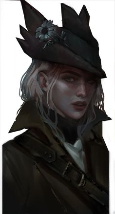 "letsgetonwithit: ""I recently commissioned the incredibly talented @oceanvoiid to draw my Bloodborne hunter Falyn & I'm absolutely in love with how it turned out! """