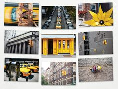 New York Set  Yellow New York Urban City Abstract by dGENXARTSHOP, $15.00