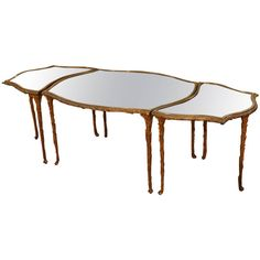 Three-Piece French Bagues Cocktail Table | From a unique collection of antique and modern coffee and cocktail tables at https://www.1stdibs.com/furniture/tables/coffee-tables-cocktail-tables/