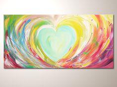 Original+modern+art+painting+Love+in+light++by+HenriettesART,+€200.00