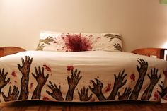 Zombie Bedsheets. For Aaron.
