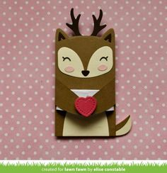 the Lawn Fawn blog: Lawn Fawn Intro: Woodland Critter Huggers, Stitched Gift Card Pocket, New Ink and Cardstock
