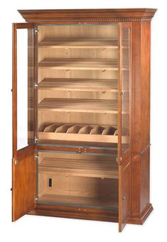 DIY Humidor out of a cabinet...wonder if I can pull this off in 4 ...