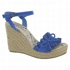 Royal blue wedge sandal. Available at Bata. Learn how to convert this price?