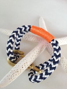 nautical bracelet http://www.etsy.com/listing/89355907/navy-white-nautical-rope-bracelet-with