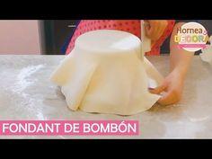 FONDANT: Prepáralo, Cubre un pastel y haz 3 pegamentos / Básicos y Tips - YouTube