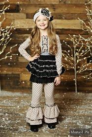 Mustard Pie Clothing - Mia Tunic Dress in Blush Black Holiday