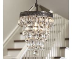 Clarissa Glass Drop Small Chandelier | Pottery Barn - Home and Garden Design Ideas