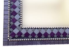 Wall Mirror Purple Mosaic Mirror Modern Wall by GreenStreetMosaics