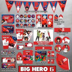 Big Hero 6 Party Package Big Hero 6 Birthday by IWannaParty