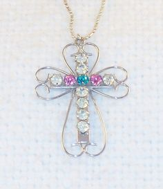Vintage Large Sterling Silver Open Cross by SultanaVintageJewels