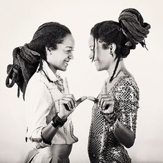 Beautiful twins. Sisters. Rasta. Long locks @wadadamovement