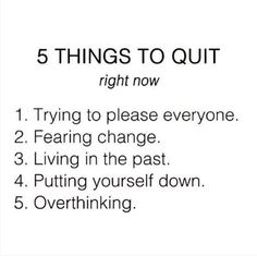 Purple Buddha project - 5 things to quit...https://www.instagram.com/pbuddhaproject/