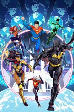 Justice League Comics, Arte Dc Comics, Dc Comics Superheroes, Dc Comics Characters, New Justice League, Dc Comics Women, Dc Comic Books, Comic Art, Comic Book Heroes