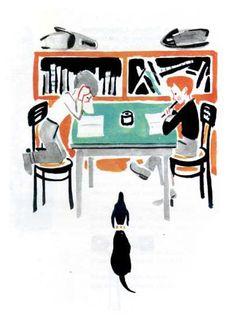 Mai Miturich Children's Book Illustration, Illustrations, Childrens Books, Moose Art, Artist, Collages, Animals, Vintage, Children Books