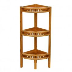 Premier Housewares Bamboo 3 Tier Corner Shelf Unit Next Day Delivery From Worlds Everything For