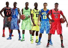 New college basketball camo uniforms for Cincinnati, Kansas, Notre Dame, Baylor, UCLA, Louisville