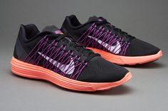 sale retailer ee524 6a844 Nike Womens Lunaracer+ 3 - Black White-Hyper Orange-Vivid Purple