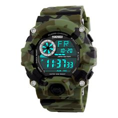 SKMEI Army Camouflage led military wrist watches men relojes digital sports watches relogio masculino esportivo s shock clock #hats, #watches, #belts, #fashion, #style