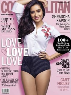 Shraddha Kapoor looks so hot on the cover of Cosmopolitan India magazine February 2017 issue. In Bollywood, Shraddha would be seen next in 'Half… Bollywood Heroine, Bollywood Actress Hot Photos, Beautiful Bollywood Actress, Beautiful Indian Actress, Bollywood Bikini, Indian Bollywood, Bollywood Fashion, Bollywood Style, Shraddha Kapoor Bikini