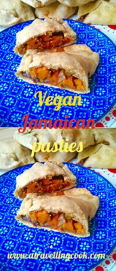 Tasty vegetable filled pasties, inspired by the flavours of Jamaican cooking #vegan
