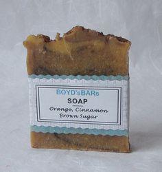 Orange Cinnamon Brown Sugar Soap  All Natural Soap by BOYDsBARs