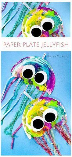 Resultado de imagem para jellyfish craft for preschool