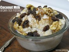 Coconut Milk Brown Rice Pudding | Eyes on the Source...Hebrews 5:9
