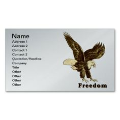 American Freedom Eagle July 4, 1776 Business Cards