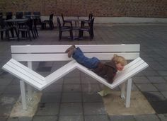 Modified Social Benches, Wonderfully Impractical Public Benches by Jeppe Hein