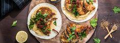 Crispy Eggplant Falafel Wraps with Lemon Hummus and Parsley Salad