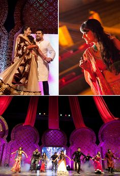 Real Indian Wedding - Glittery Sangeet Performance,Photography by Avantika Meattle
