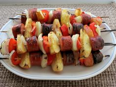 If you're planning a Father's Day cookout, kebabs are always fun, and they don't need to be eaten with bread, which makes them a gluten-free option that everyone can enjoy.Easy, Frugal and Gluten Free California Pilaf RecipeGluten-Free Taco Pie RecipeChocolate Peanut Butter No-Bake Cookies Recipe These kebabs combine smoked sausage with a
