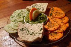 spinach hummus bread carrot cucumber   - Costa Rica