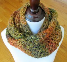 Handmade Crochet Infinity Scarf/Womens by TheComfyBaby on Etsy