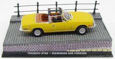 EDICOLA BONDCOL018 Skala: 1/43  TRIUMPH STAG CABRIOLET 1971 - DIAMONDS ARE FOREVER - UNA CASCATA DI DIAMANTI YELLOW