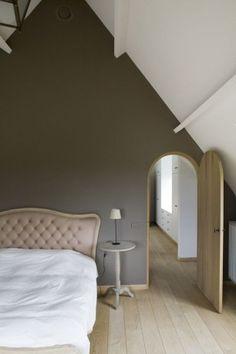 Slaapkamer landelijke stijl - verf - parket