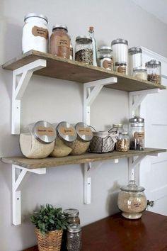 55 Modern Farmhouse Kitchen Cabinet Makeover Design Ideas