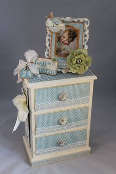 @Arlene Butterflykisses shares her amazing Altered Little Darlings dresser she made for a friend expecting! Isn't this stunning?? #graphic45