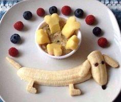 Cute banana dog shape fruit snack