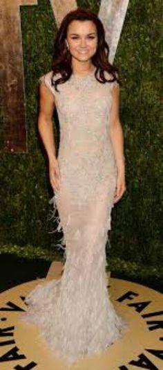 Samantha Barks. LOVE this dress
