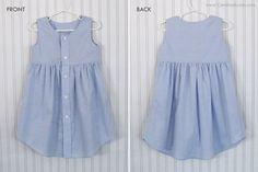 EASY DIY UPCYCLE TUTORIAL: Transforming an Adult Shirt to a Toddler Dress | Candice Ayala