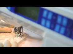 Basic Curling Feather on Elna Sewing Machine - YouTube